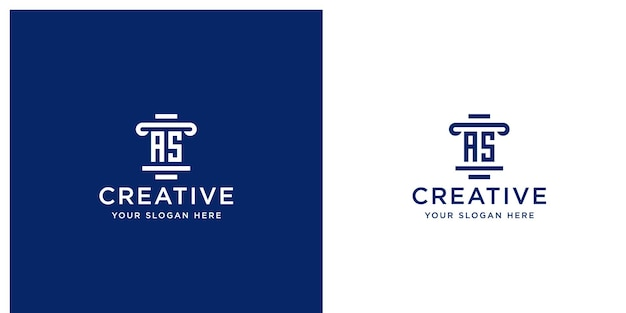 Iniziali come modello di progettazione del logo dello studio legale