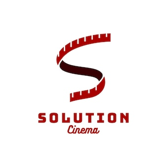 Iniziali s reels ribbon camera logo design
