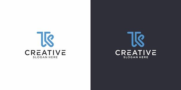 Il design grafico del logo tk delle iniziali per altri usi è perfetto