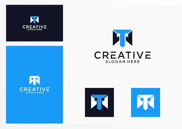 Iniziali tw logo design grafico per altri usi è perfetto