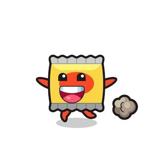 Personaggio snack ferito con faccia ammaccata, design in stile carino per maglietta, adesivo, elemento logo