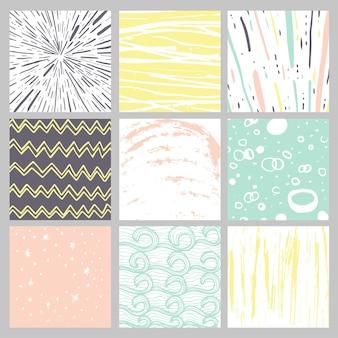 Strutture disegnate a mano di inchiostro. può essere utilizzato per carta da parati, sfondo di pagine web, album di ritagli, decorazioni per feste, design di t-shirt, biglietti, stampe, poster, inviti, imballaggi e così via.