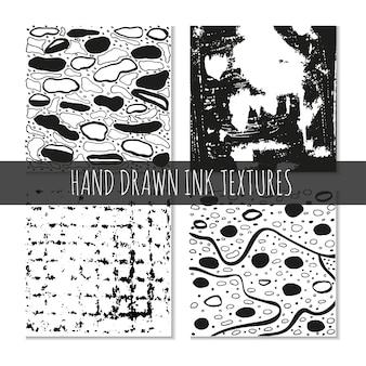 Trame disegnate a mano con inchiostro possono essere utilizzate per la carta da parati, i disegni delle magliette, le stampe delle carte