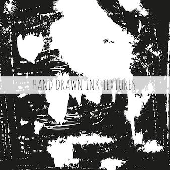 Le trame disegnate a mano dell'inchiostro possono essere utilizzate per lo sfondo della carta da parati della pagina web scrapbooking