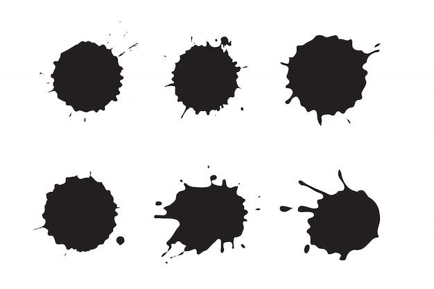 Set di schizzi d'inchiostro