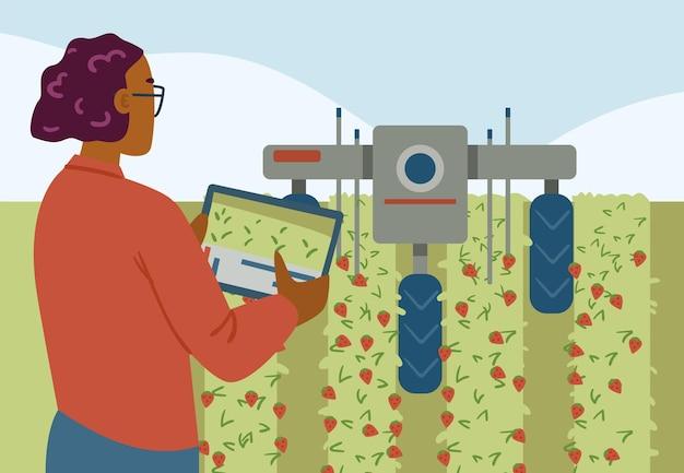 Innovazione tecnologia agricola per un sistema smart farm