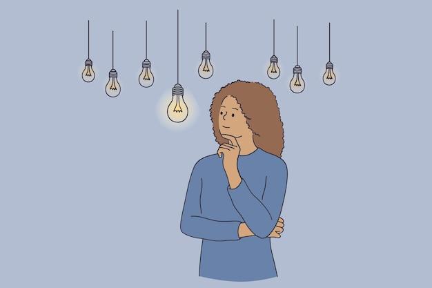 Innovazione, creatività, nuovo concetto di idea