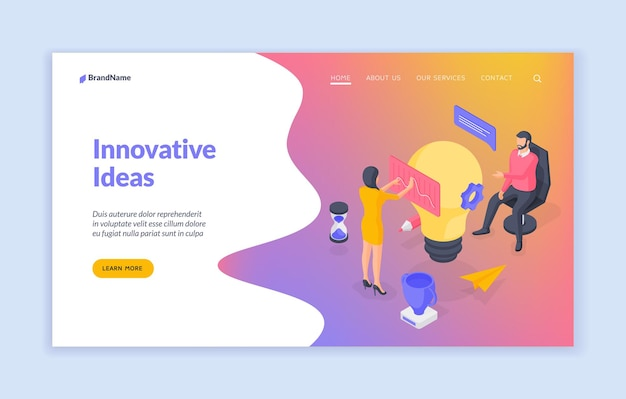 Modello di banner del sito web di idee innovative