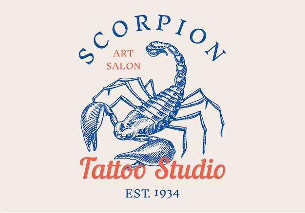 Logo di insetti per bar o studio di tatuaggi
