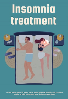 Modello del manifesto di trattamento dell'insonnia
