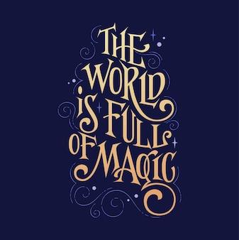 Frase di ispirazione fantasia bella citazione di lettere a tema magico