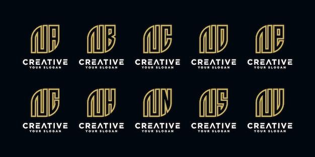 Inspirational bundle moderno logo n ed ecc
