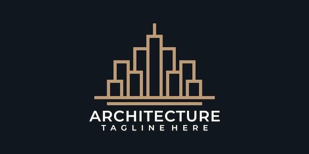 Disegni del logo della costruzione dell'architettura del monogramma di ispirazione