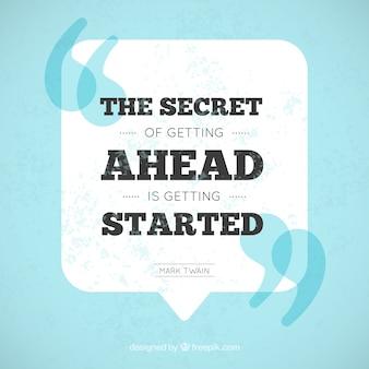 Inspirational frase perseveranza