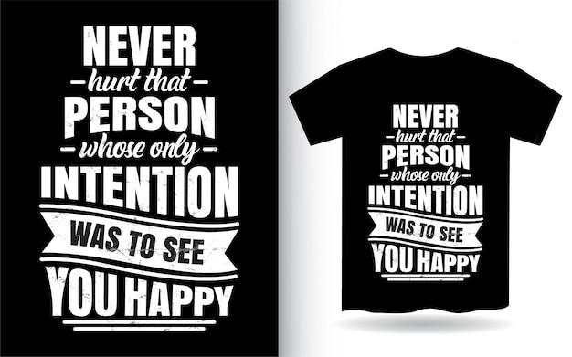 Citazione ispiratrice design lettering per t-shirt