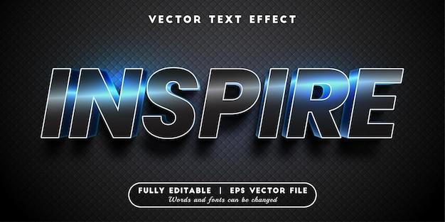 Ispira l'effetto del testo, lo stile del testo modificabile