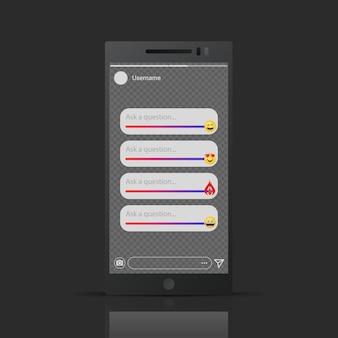 Ispirato da instagram - modello di cursori emoji storie