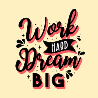 Modello del manifesto di citazione di motivazione creativa d'ispirazione. fondo di progettazione dell'insegna di tipografia di vettore. citazione ispiratrice e motivazionale di lettere disegnate a mano.