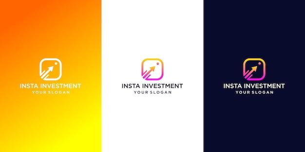 Insta investimento logo design