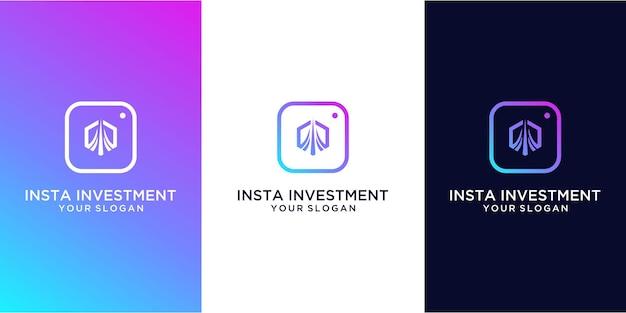 Design del logo di investimento insta