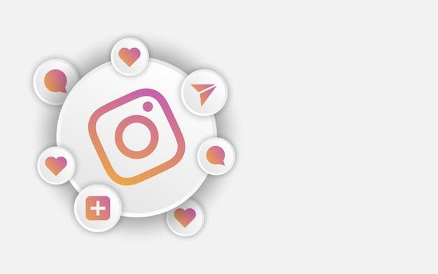 Modello di banner di instagram per i social media