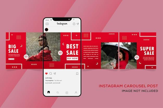 Instagram carosello modelli banner premium
