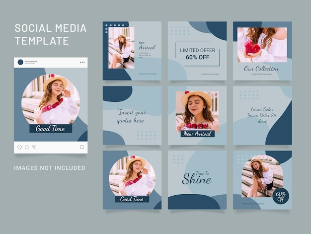 Instagram fashion women template feed puzzle