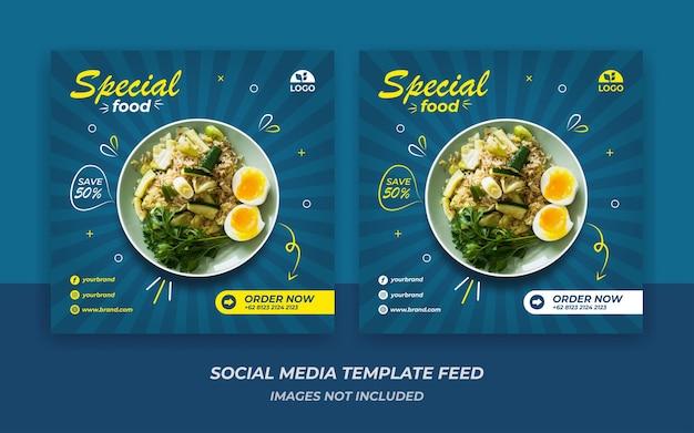 Instagram feed template stile alimentare