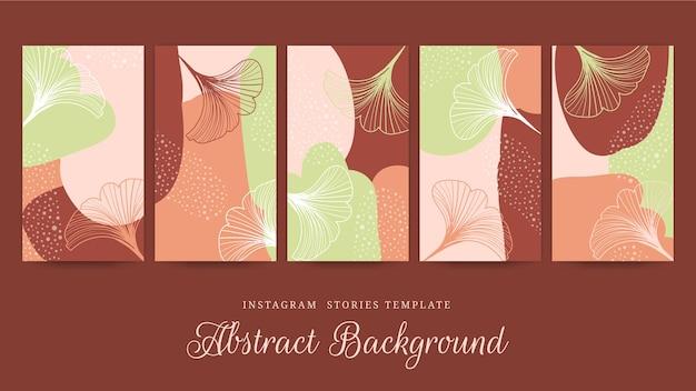 Punti salienti delle storie di effetto floreale e punti disegnati a mano di instagram