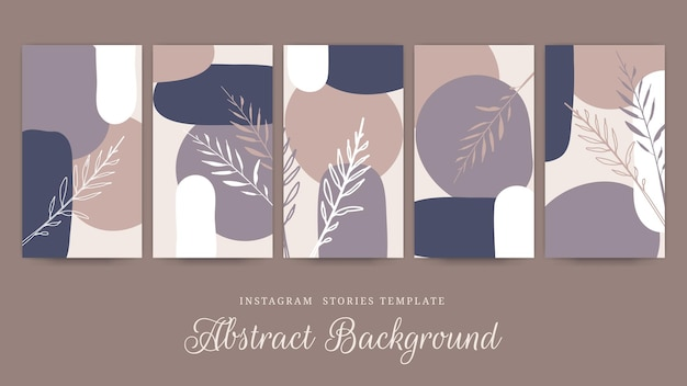 Punti salienti di storie floreali disegnate a mano di instagram