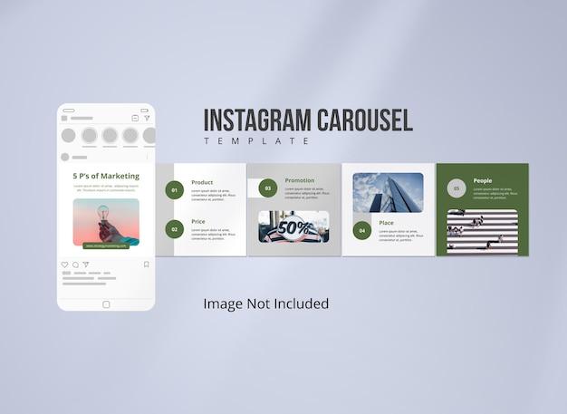 Modello di post carosello della strategia di marketing di instagram