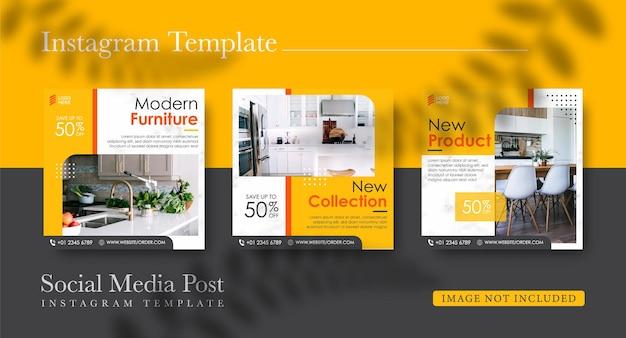 Raccolta di post di instagram per il design di mobili