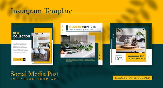 Raccolta di post su instagram per il design di mobili