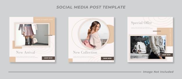 Set di raccolta di post di instagram