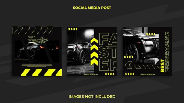 Instagram post design automobilistico