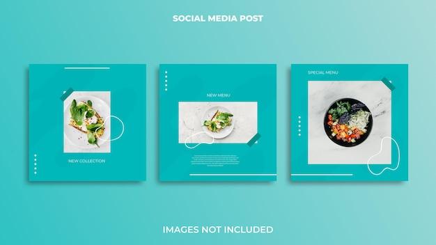 Cibo di design per post di instagram