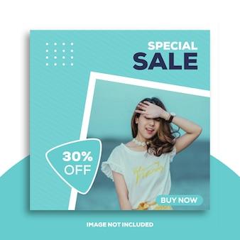 Post di instagram o modello di banner quadrato per negozi di moda