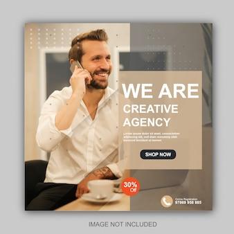 Modello di post instagram per agenzie creative