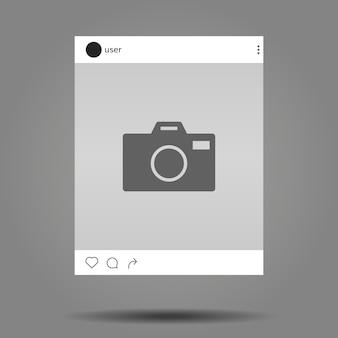 Modello di post instagram Vettore Premium