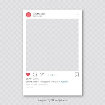 Post instagram con sfondo trasparente
