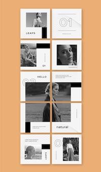 Raccolta di modelli di feed puzzle di instagram
