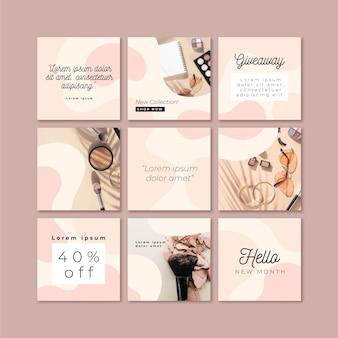 Modello di feed di puzzle di instagram