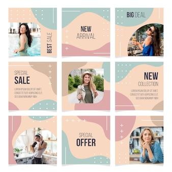 Modelli di feed di puzzle di instagram