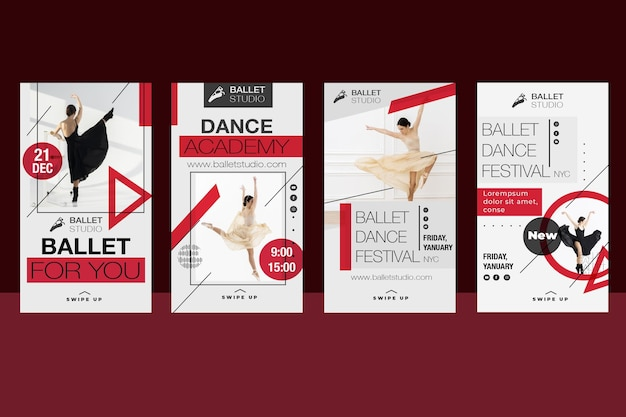 Evento di balletto di design di storie di instagram
