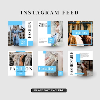 Storie di instagram feed post modello di vendita di moda