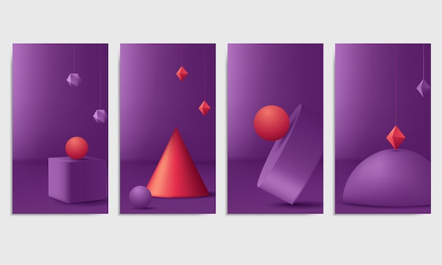 Modelli di cornici per storie di instagram. sfondo vettoriale