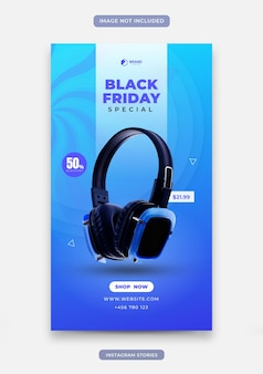 Storie di instagram con colore blu e sfondo dinamico per gadget o vendita di prodotti