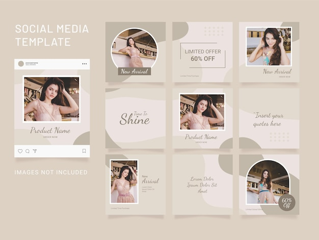 Instagram template puzzle feed social media