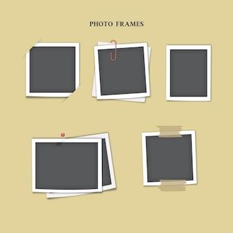 Collezione di cornici per foto istantanee