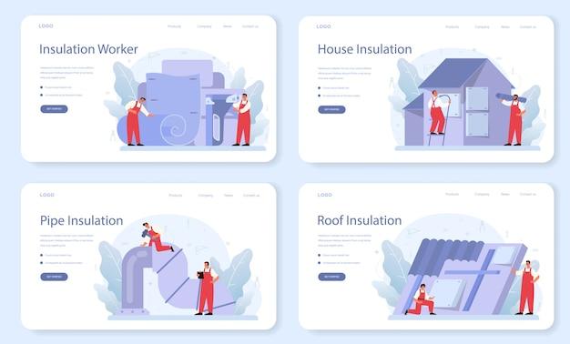 Modello web di isolamento o set di pagine di destinazione.